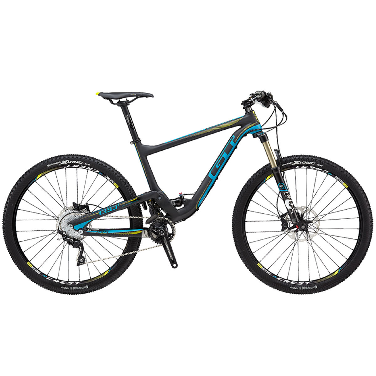 VTT GT Helion Carbone Pro CE (2015) - M Stock Bike Matt Black/Blue VTT tout suspendu