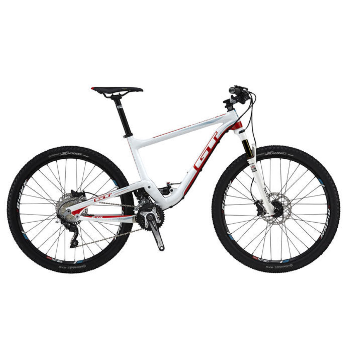 VTT GT Helion Expert (carbone, 2015) - L Stock Bike Gloss White/Orange VTT tout suspendu