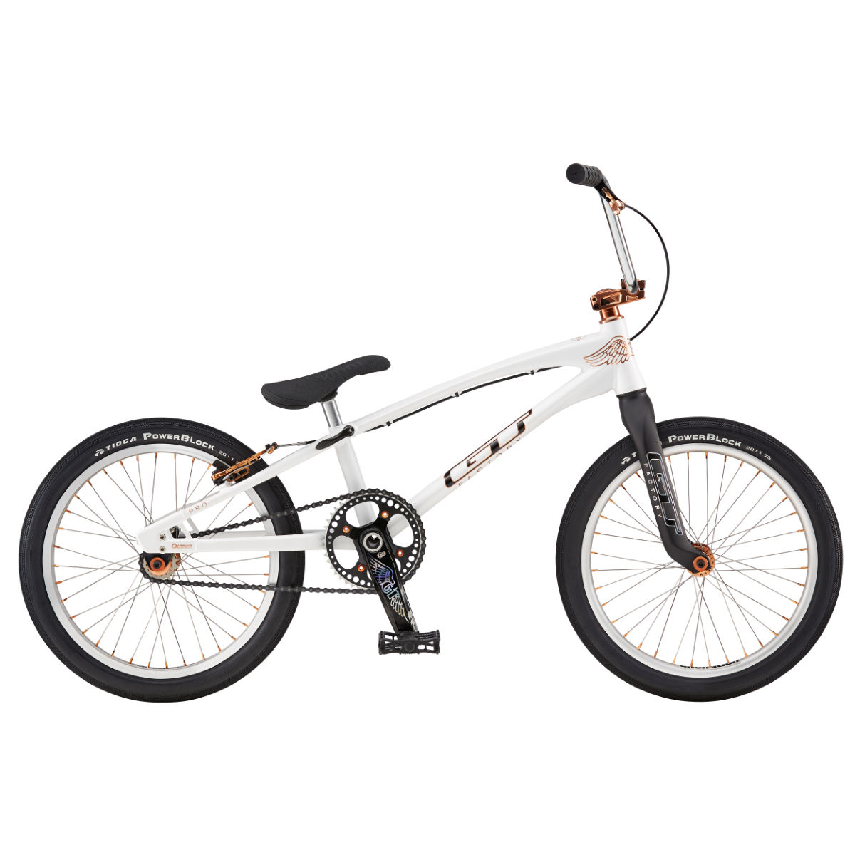 GT Speed Series Pro (2016) BMX Bike - 20'' Wheel Stock Bike Blanc BMX Street