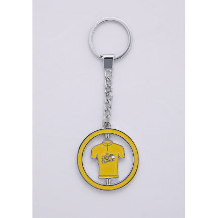 Tour de France Metal Keyring