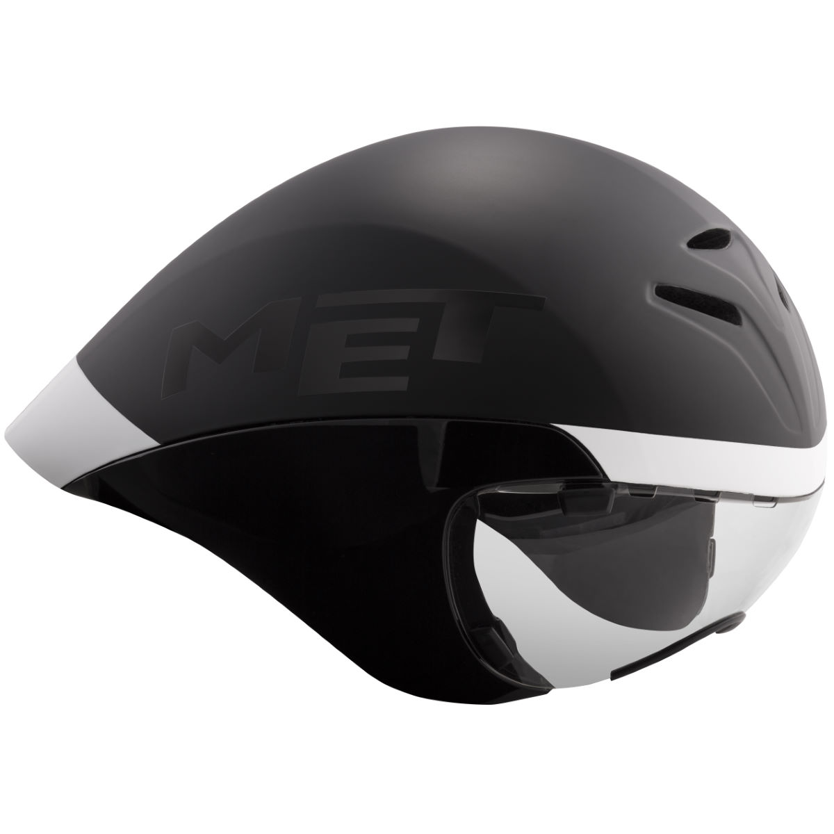Casque MET Drone Wide Body - Medium Noir/Blanc Casques de route
