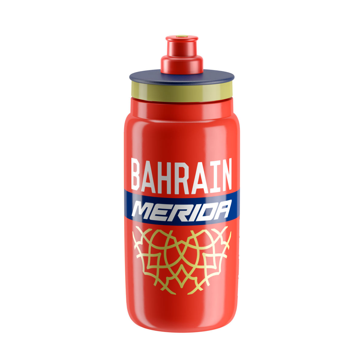 Bidon Elite Fly Team Bahrain Merida (2017) - One Size Red/blue/gold Bidons