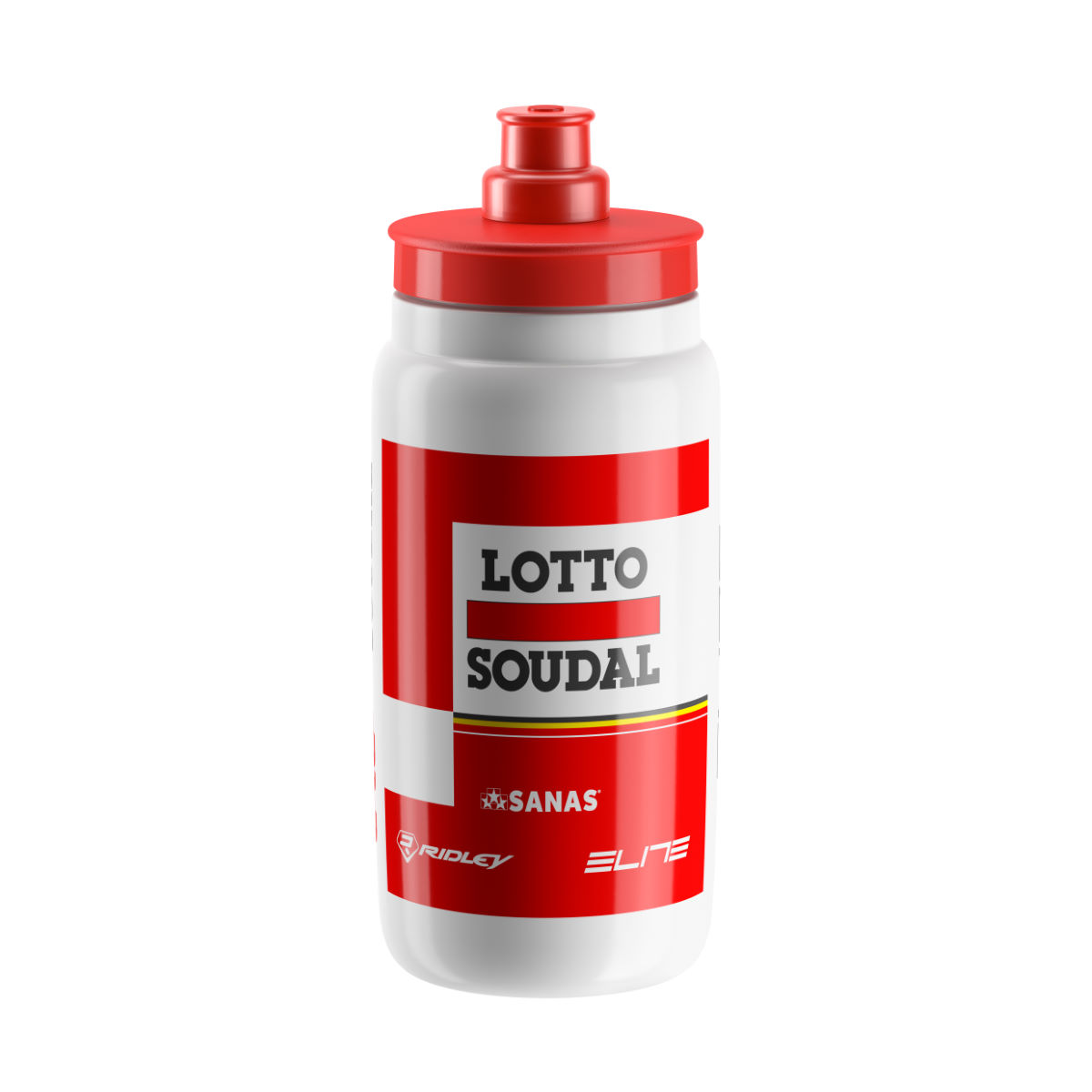 Elite Fly Lotto Soudal 2017 - One Size White/red Bidons