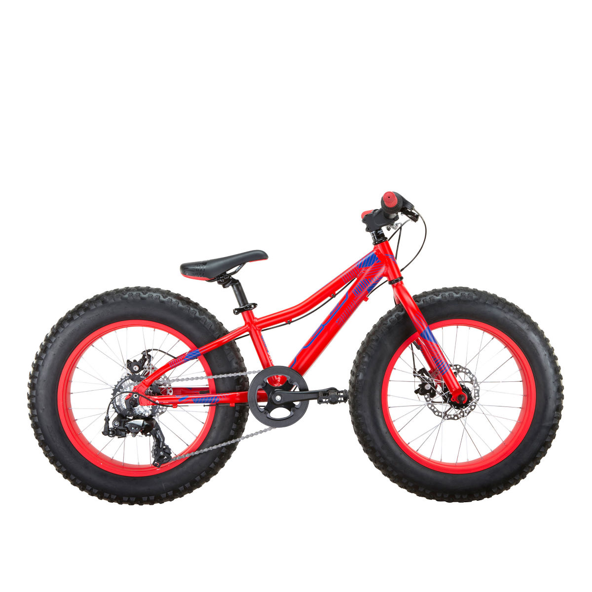 VTT Fat Bike Enfant Felt Cruncher 20 (2017) - 20'' Wheel Stock Bike Matte Fluro Red Vélos enfant - 7 ans et plus