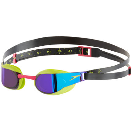 Speedo Fastskin Elite Mirror Goggles (Lime Punch)