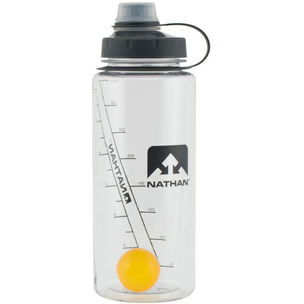 Bidon Nathan Shaker Shot - 750ml Clear/Nathan Orange Bidons