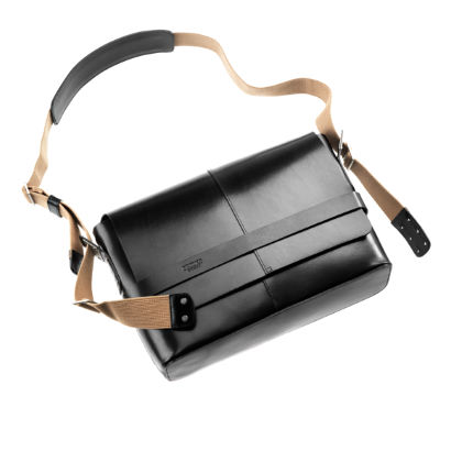 Brooks England Barbican Hard Leather Shoulder Bag