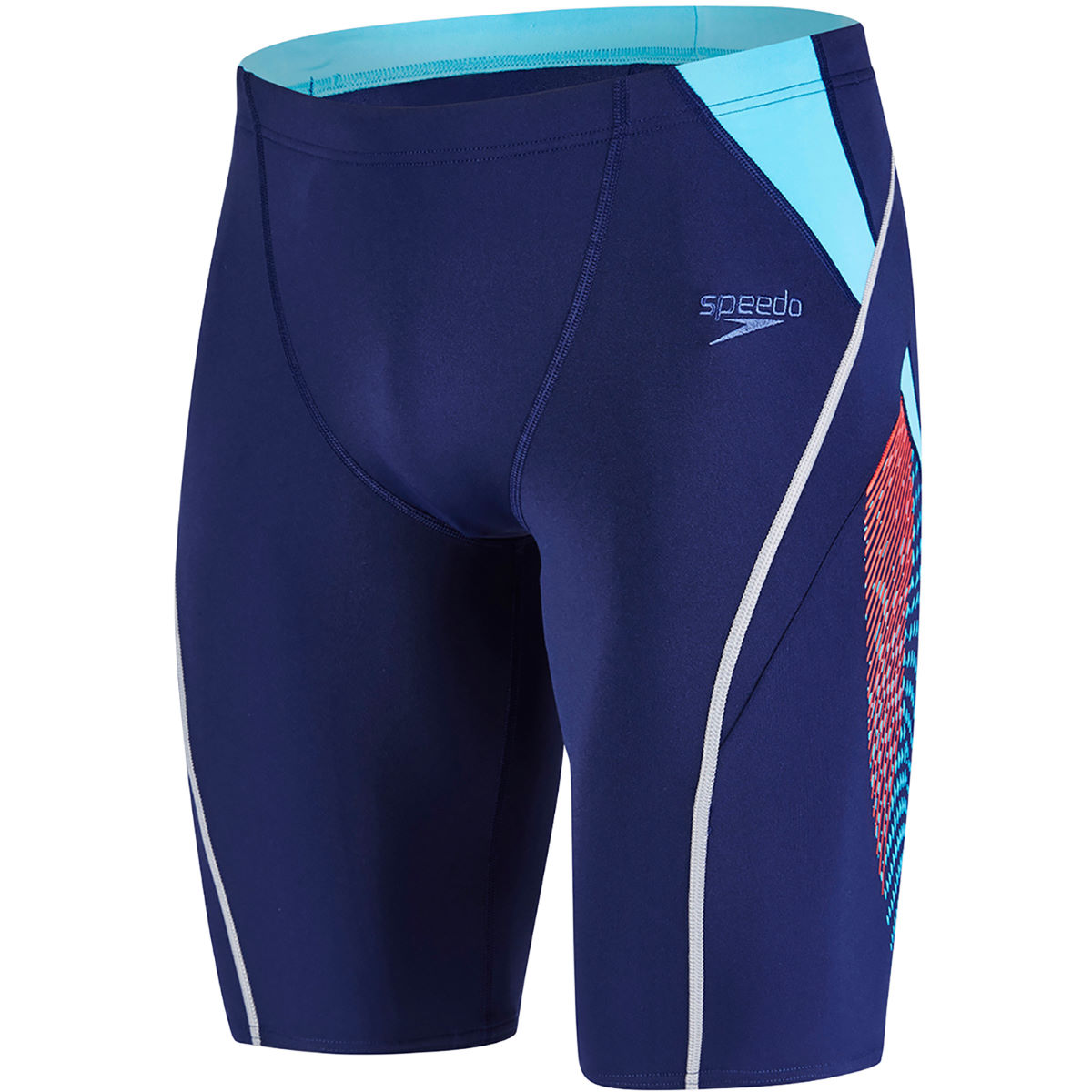 Jammer Speedo Fit Splice - 28 Navy/Lava Red Maillots de bain Adulte