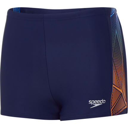 Speedo Boy's Star Kick Logo Panel Aquashort