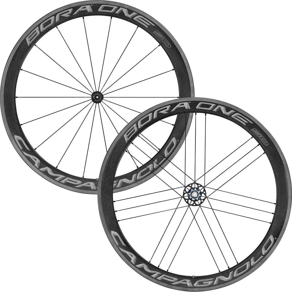 Paire de roues Campagnolo Bora One 50 (2018) - 700c Shimano Dark Label Roues performance
