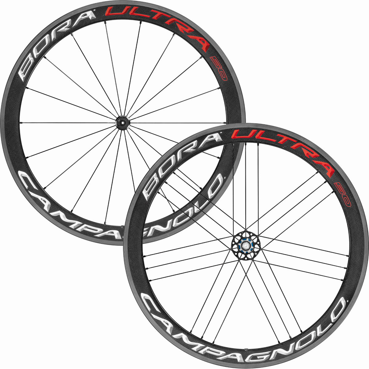 Paire de roues Campagnolo Bora Ultra 50 - 700c Shimano Bright Label Roues performance