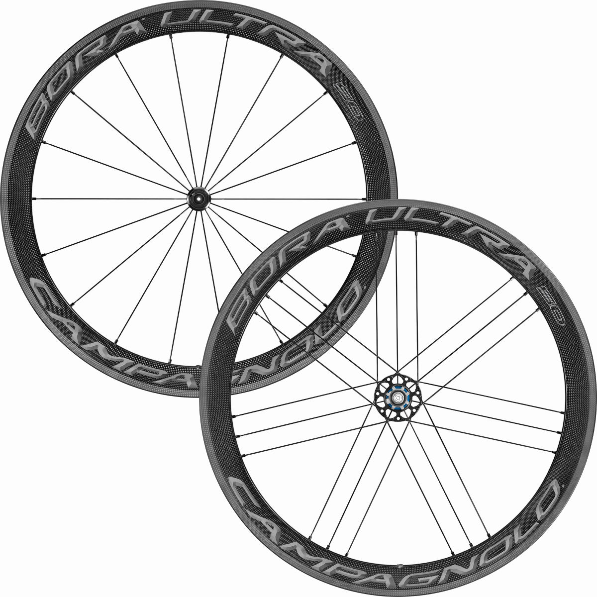 Paire de roues Campagnolo Bora Ultra 50 - 700c Shimano Dark Label Roues performance