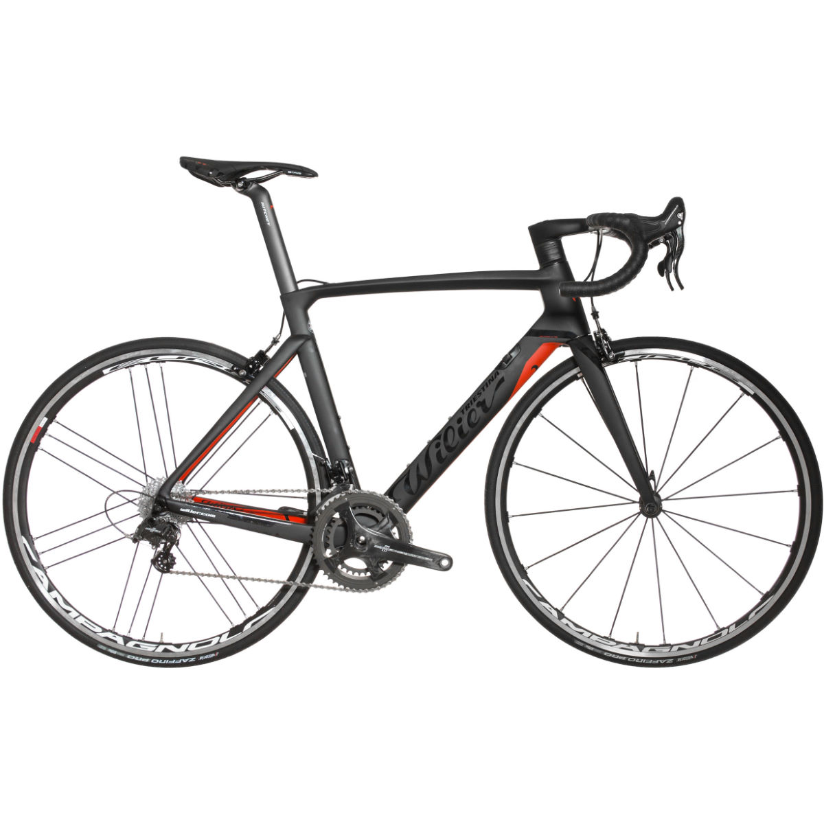 Vélo de route Wilier Cento 10 Air (Chorus, 2017) - Medium Stock Bike Noir/Rouge Vélos de route