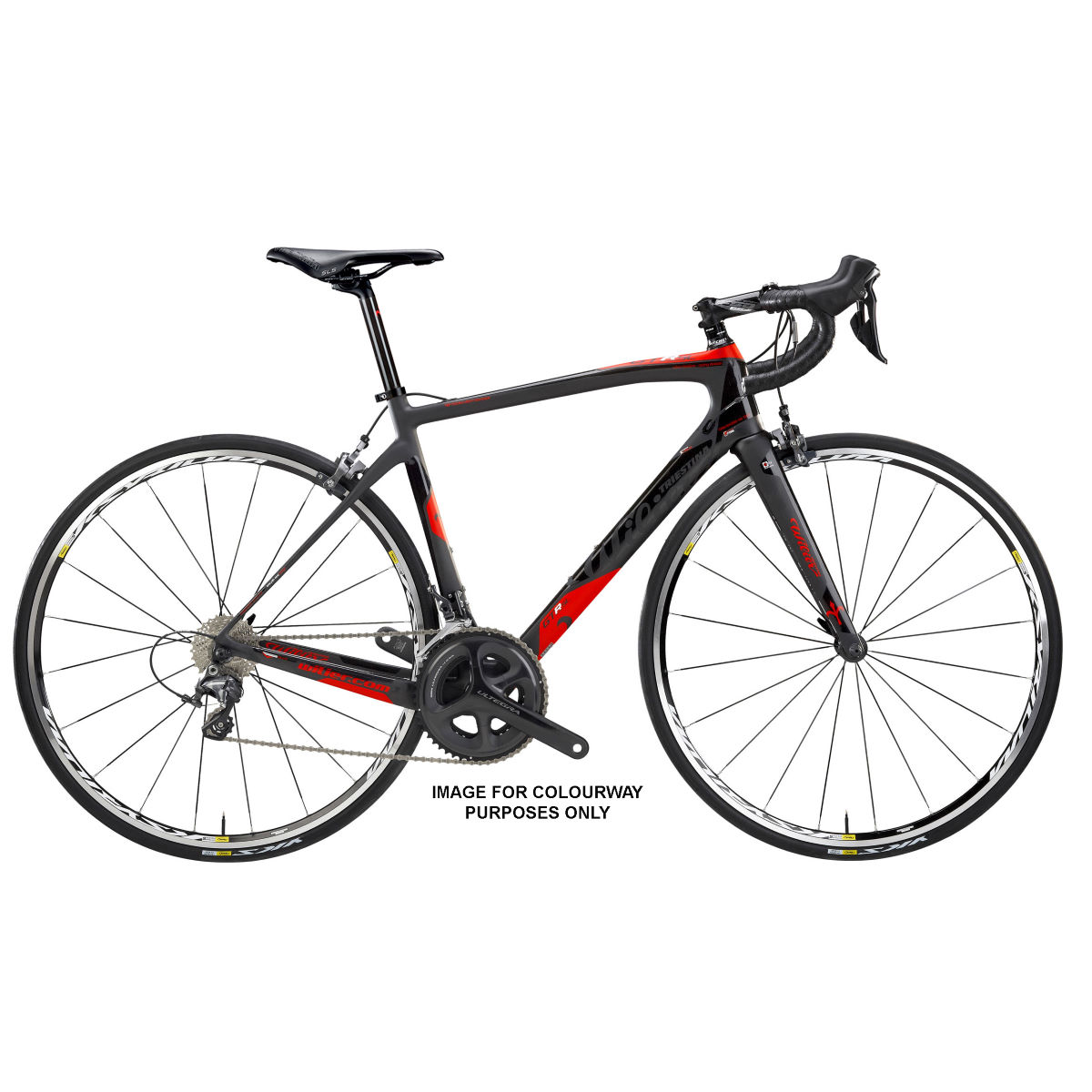 Vélo de route Wilier GTR SL Endurance (Chorus, 2017) - Medium Stock Bike Noir/Rouge Vélos de route