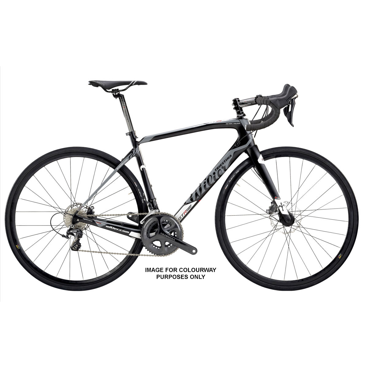 Vélo de route Wilier GTR Team Endurance (disque, 105, 2017) - Small Stock Bike Grey/Grey Vélos de route