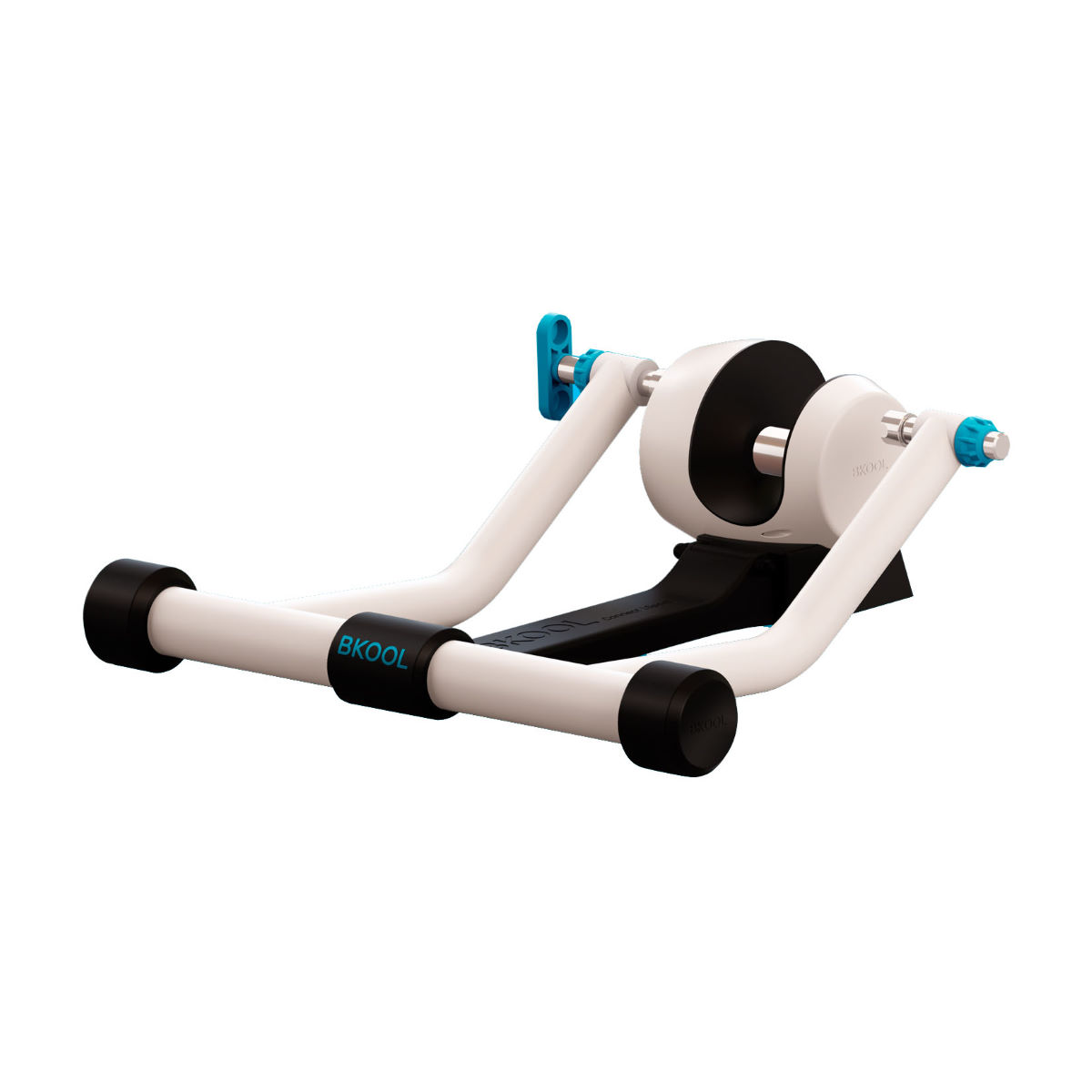 Home trainer Bkool Smart Go - One Size White/Black/Blue Home Trainer et rouleaux