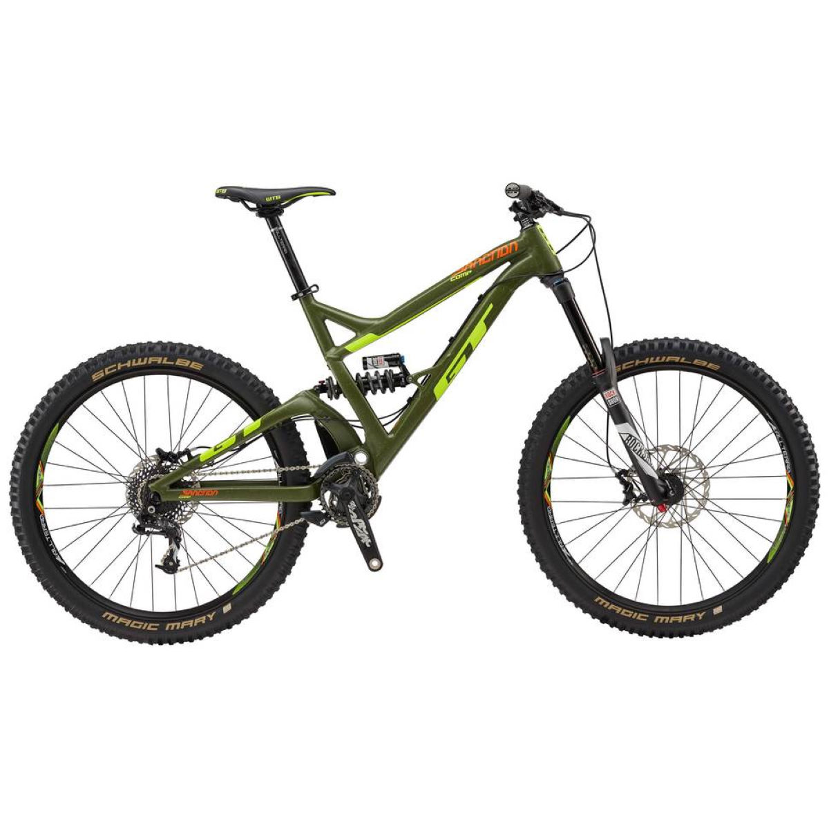 GT Sanction Comp (2017) Mountain Bike Green L Stock B - L Stock Bike Gris foncé VTT tout suspendu