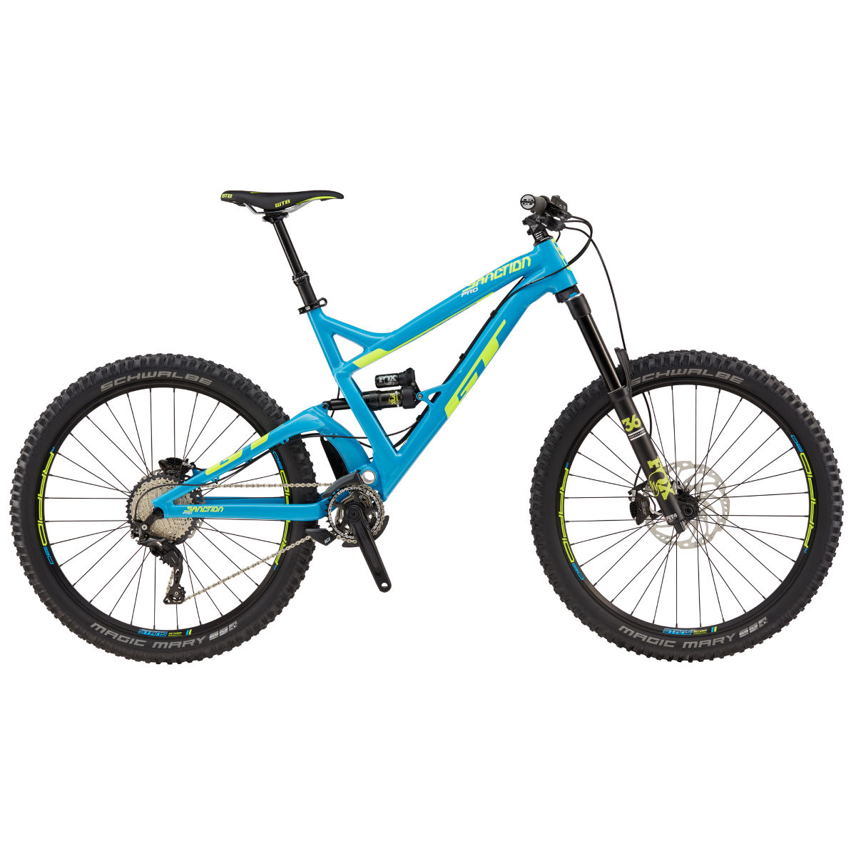 GT Sanction Pro (2017) Mountain Bike - XL Stock Bike Cyan VTT tout suspendu