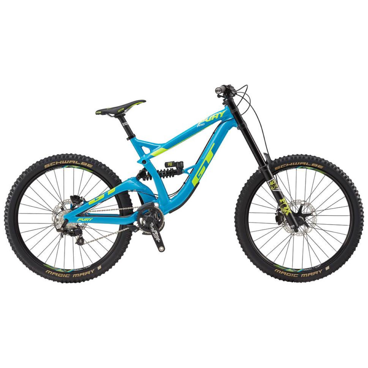 GT Fury Pro (2017) Mountain Bike - S Stock Bike Cyan VTT tout suspendu