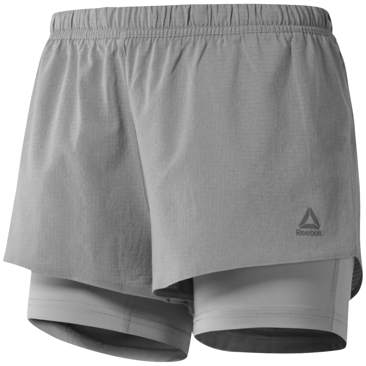 Short Femme Reebok One Series Run (2 en 1) - XS Powder Grey