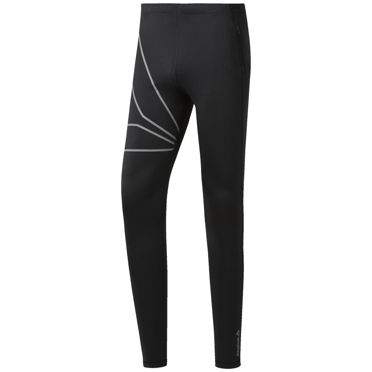Reebok One Series Tight - S Black/Reflective | Running Tights