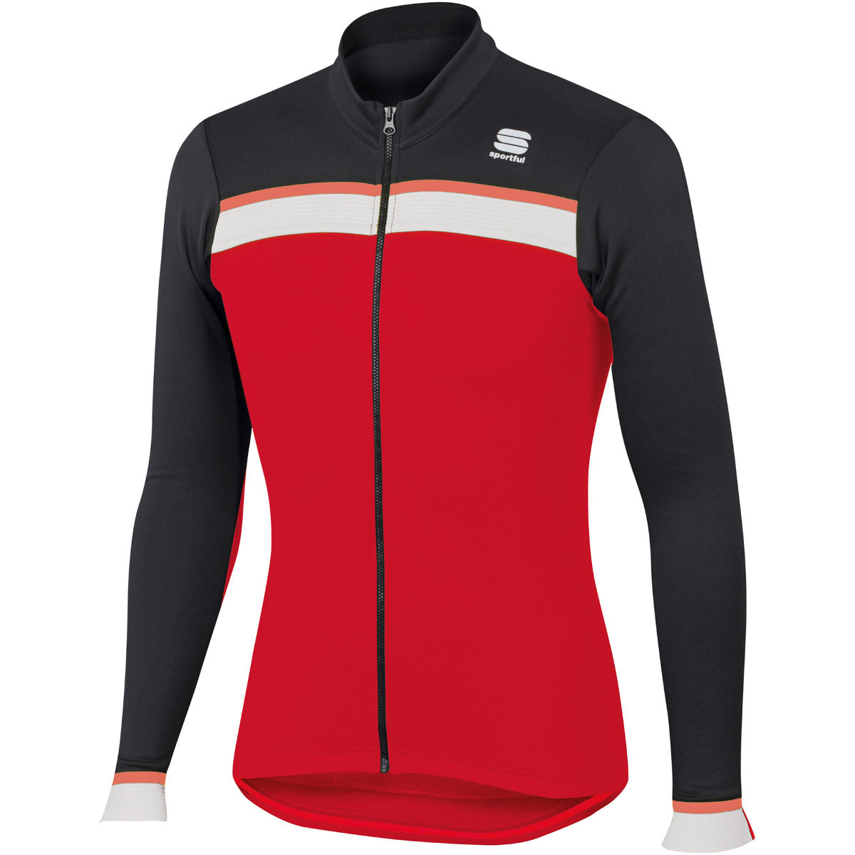 Maillot Sportful Pista Thermal (manches longues) - XS Rouge/Noir