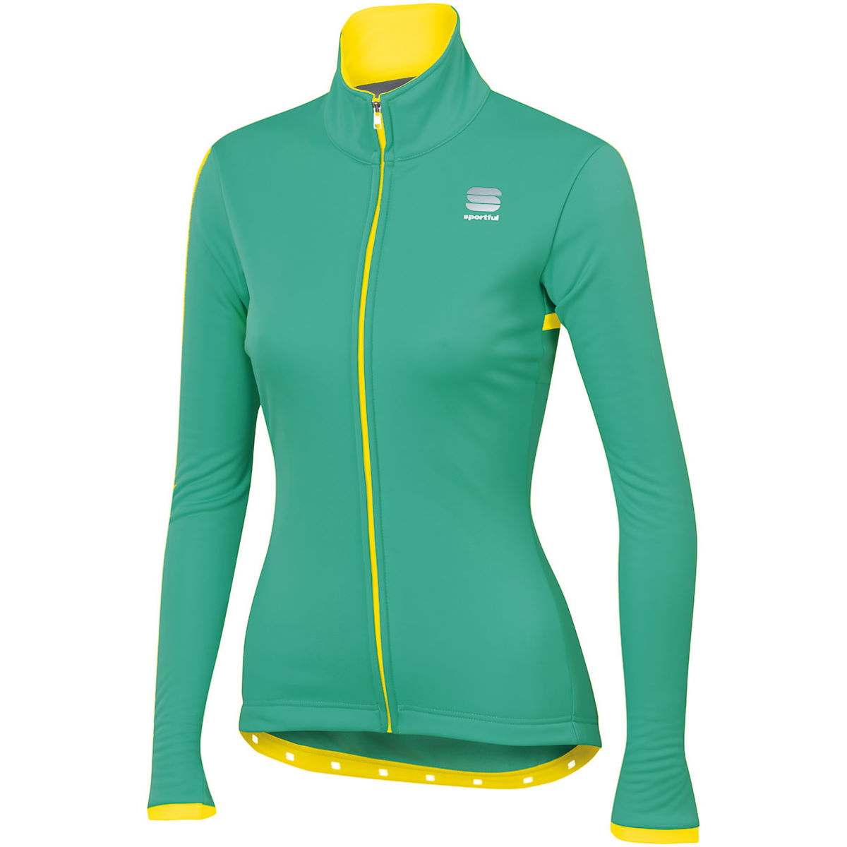 Veste Femme Sportful Luna Softshell - S Waterfall/Yellow Flu Vestes