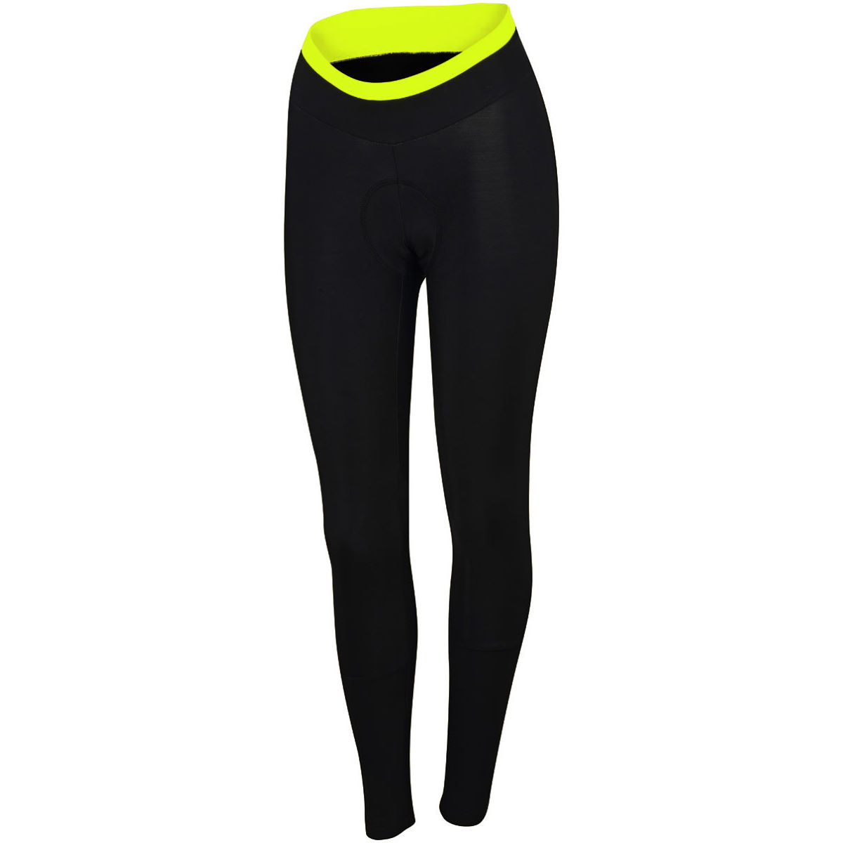 Cuissard long Femme Sportful Luna Thermal - L Black/Yellow Fluo