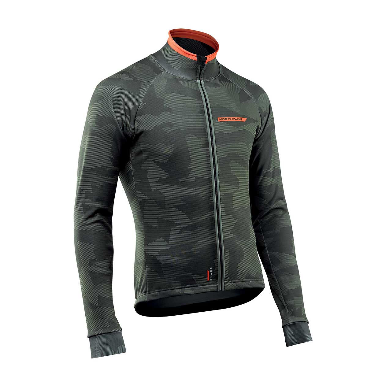 Northwave - Blade 2 Jacket - M Camo Forest/Orange Coupe-vents vélo