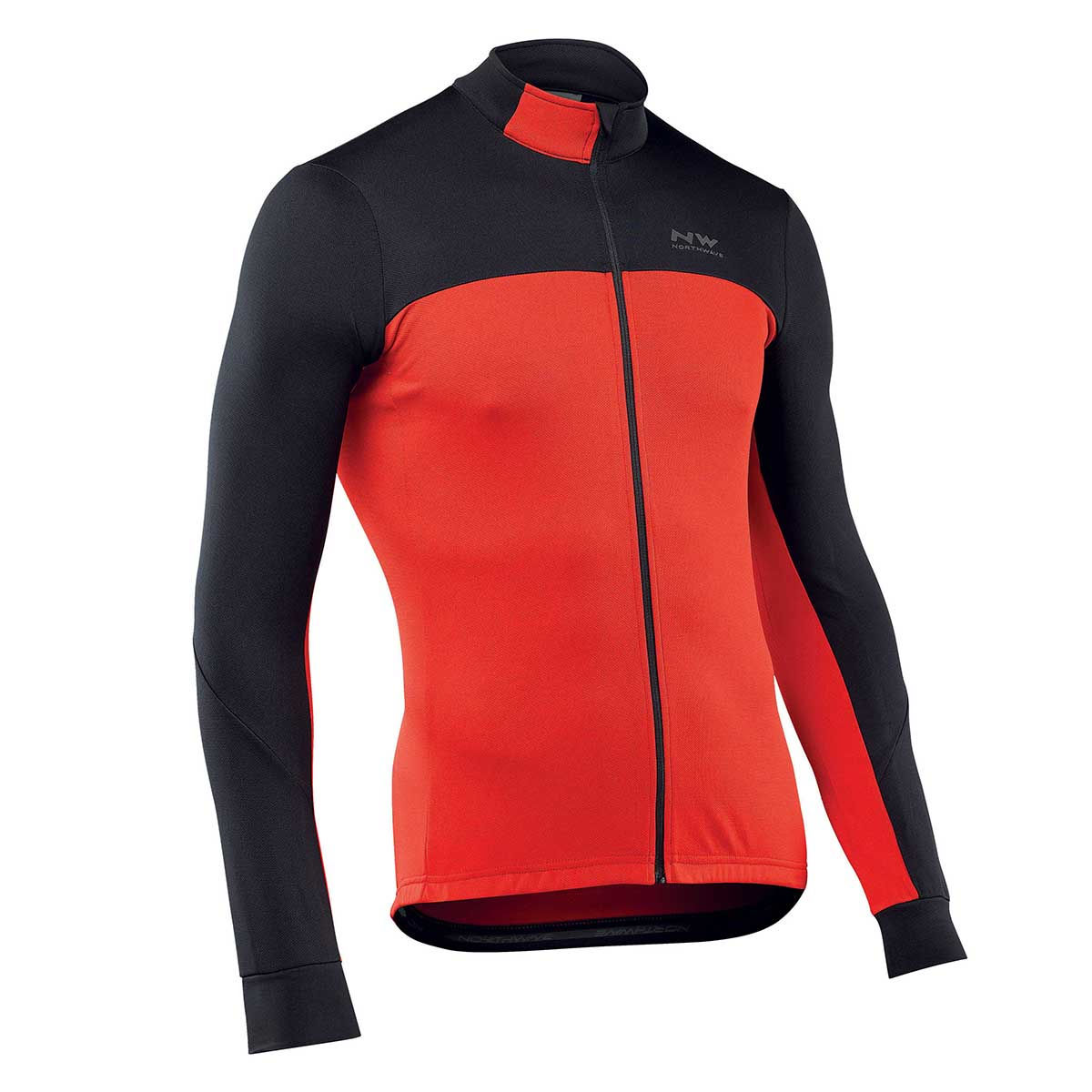 Northwave - Force 2 Long Sleeve Jersey - M Noir/Rouge Maillots