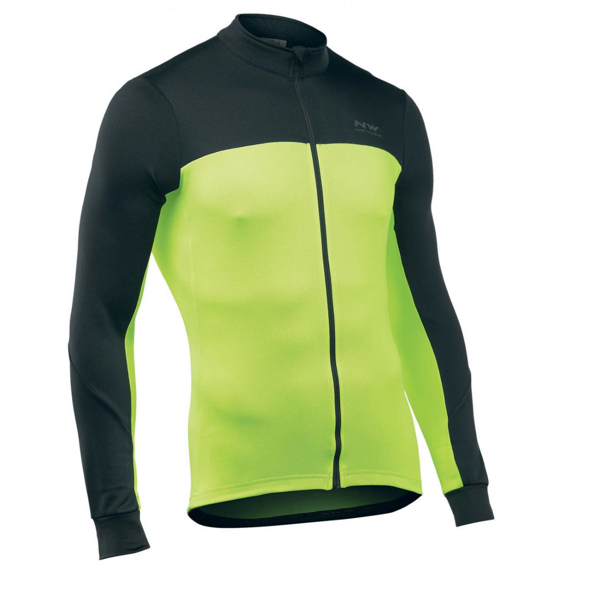 Northwave - Force 2 Long Sleeve Jersey - M Black - Yellow Maillots