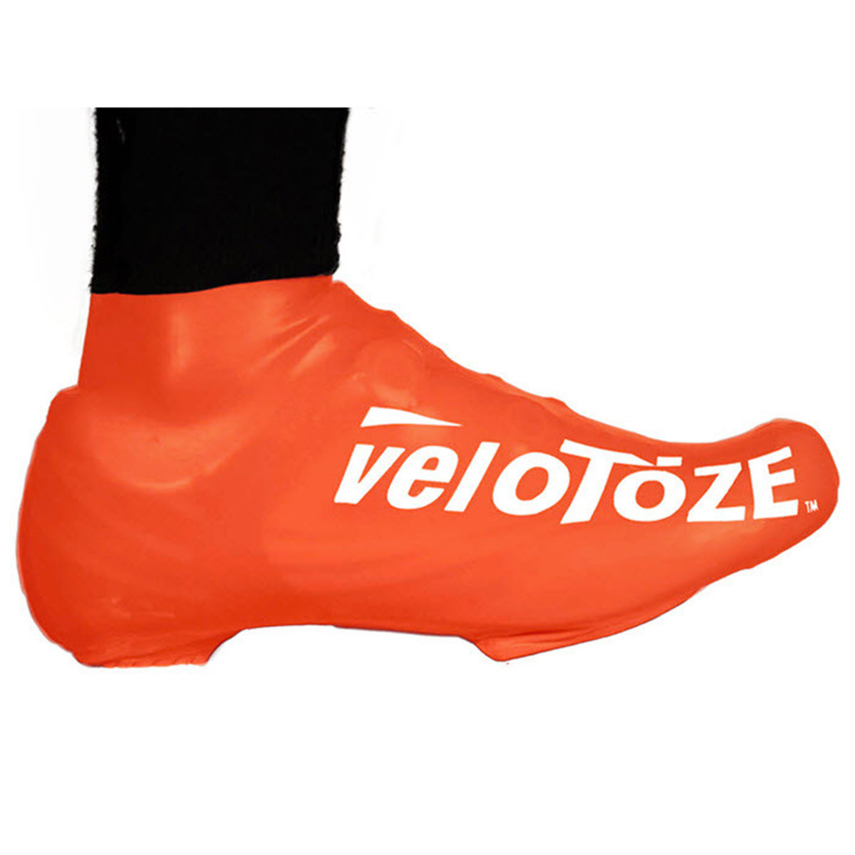 Couvre-chaussures VeloToze Short - S/M Orange Couvre-chaussures