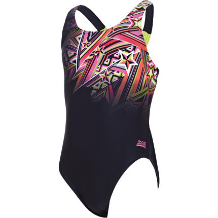 Zoggs Girl's Starburst Rowlee Back Swimsuit