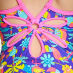 Girl's Jungle Fun Yaroomba Floral Swimsuit