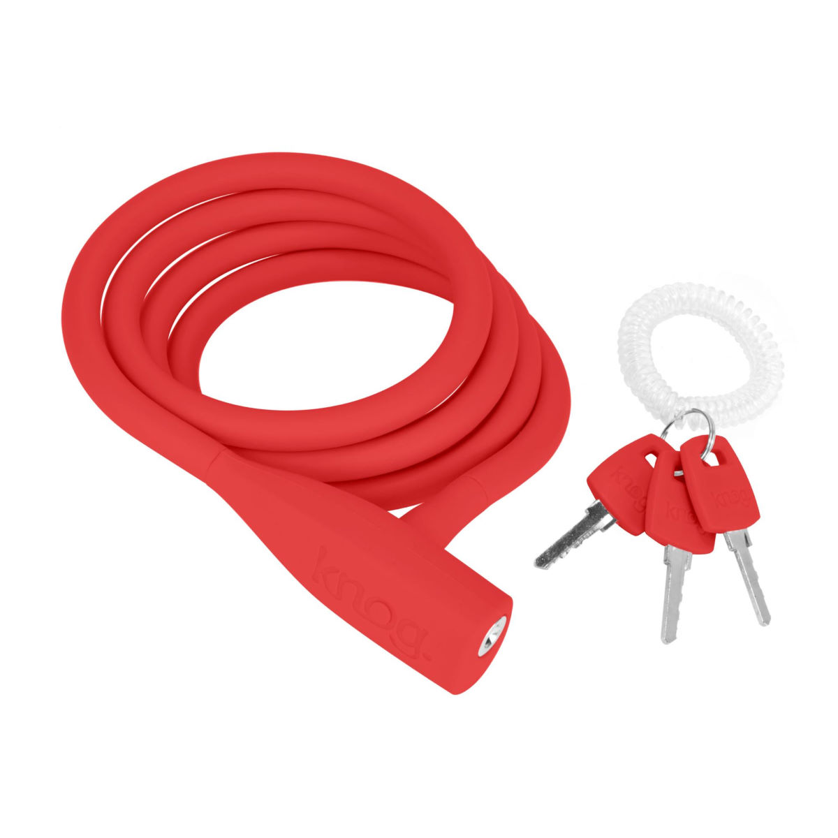 Câble antivol Knog Party Coil - 1.3m Rouge Câbles antivol
