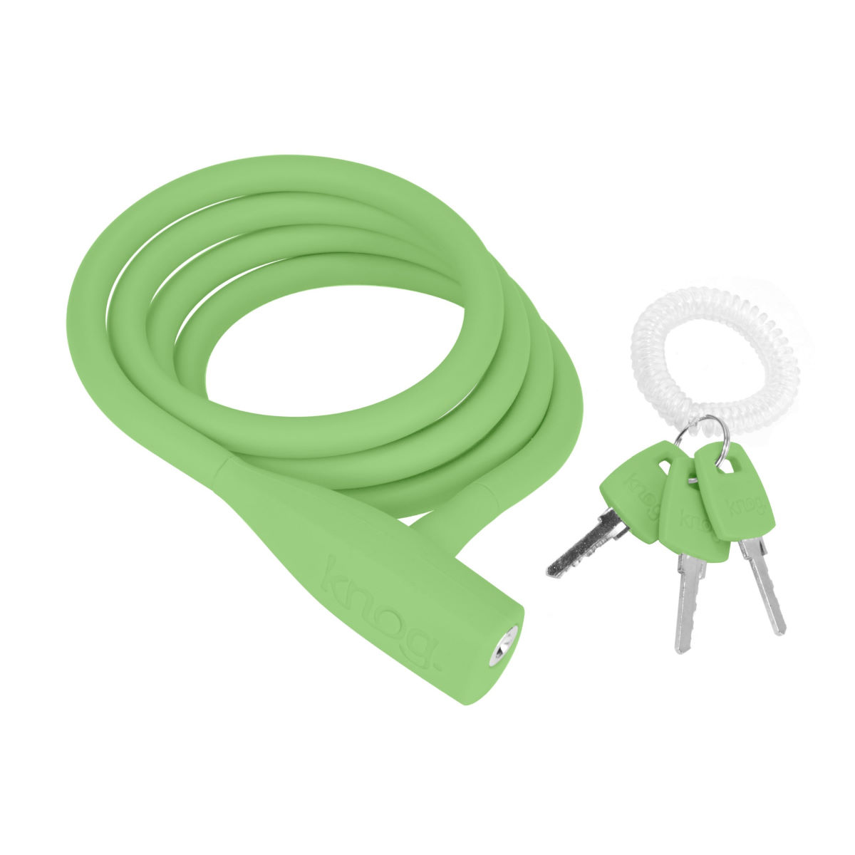 Câble antivol Knog Party Coil - 1.3m Lime Câbles antivol