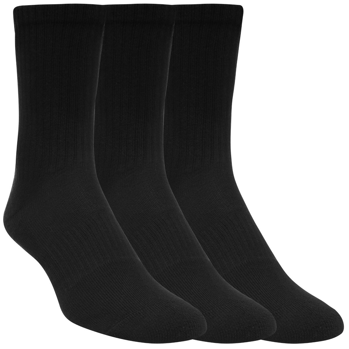 Chaussettes Under Armour Charged Cotton 2.0 (trois paires) - M Noir