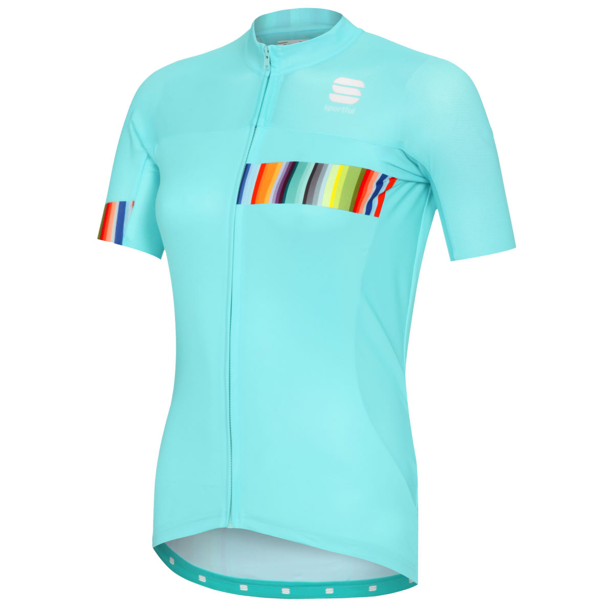 Maillot Femme Sportful Exclusive Rainbow BodyFit Team - L Blue