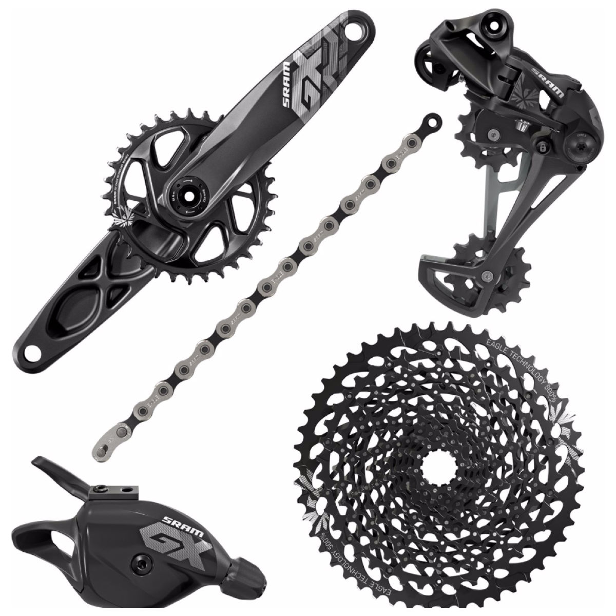 Groupe SRAM GX Eagle GXP - 32Tx10-50 175mm Noir Groupes complets