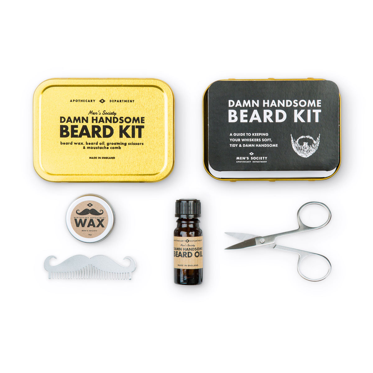 Kit d'entretien pour barbe Men's Society - One Size Neutral