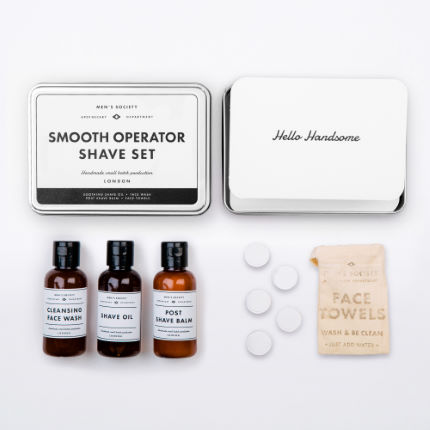 Prodotti per la rasatura Men's Society Smooth Op (kit)