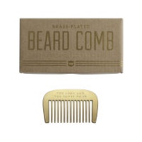 Mens Society Brass Beard Comb