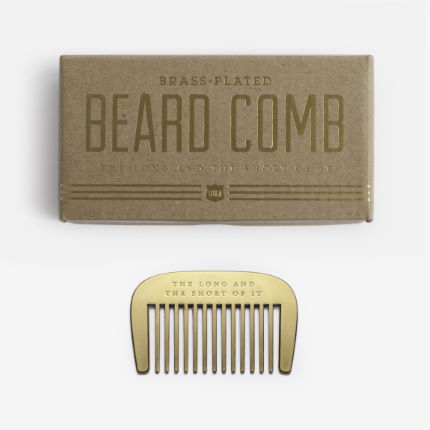 Men's Society Brass Beard Comb