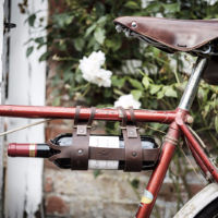 Mens Society Bicycle Leather Wine Bottle Holder