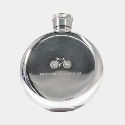 Men's Society Hip Flask - Don't Drink and Ride