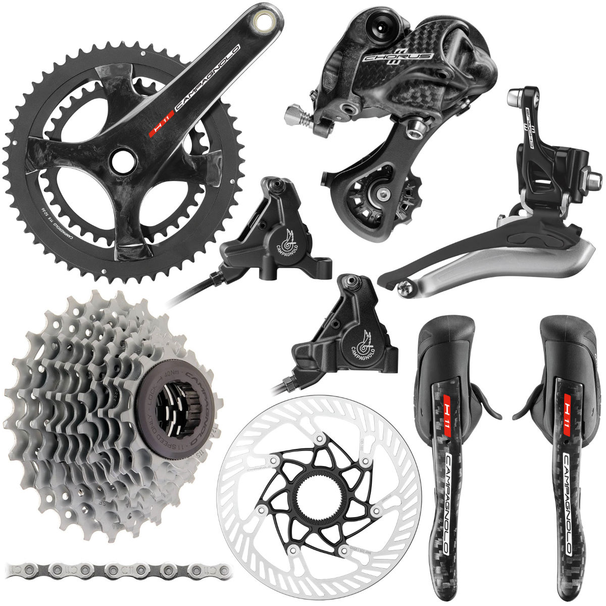 Campagnolo Chorus 11 Speed Hydraulic Disc Groupset - Grupos