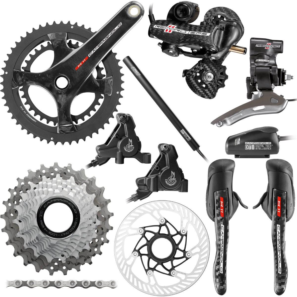 Campagnolo Record EPS 11 Speed Hydraulic Disc Groupset - Grupos