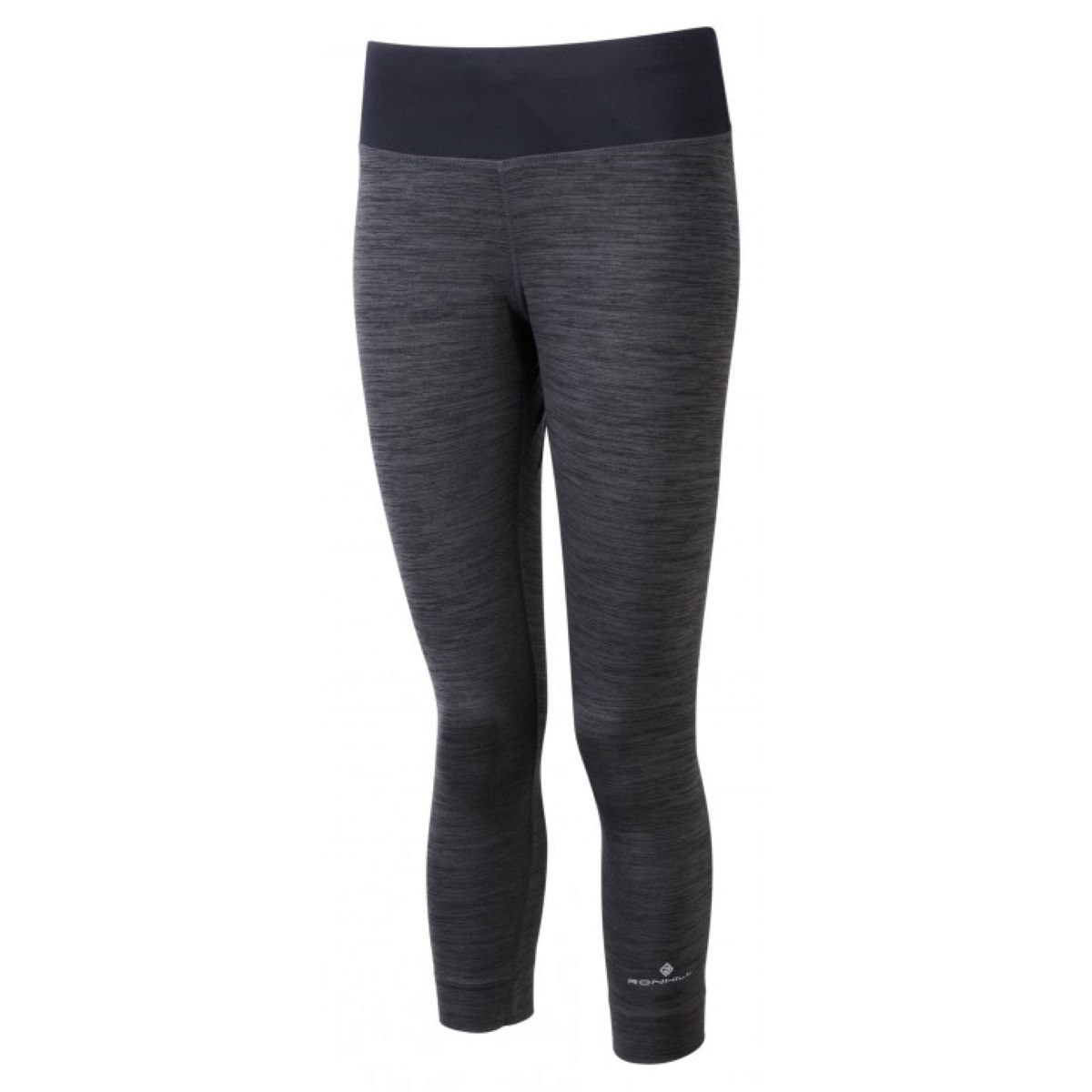 Ronhill Women's Momentum Victory Crop Tight - 14 Charcoal Marl