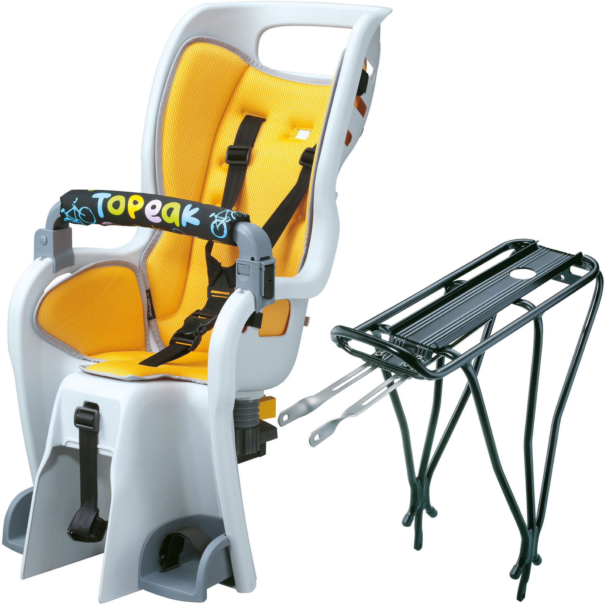 Si ges enfant topeak babyseat ii and rack wiggle france for Siege enfant