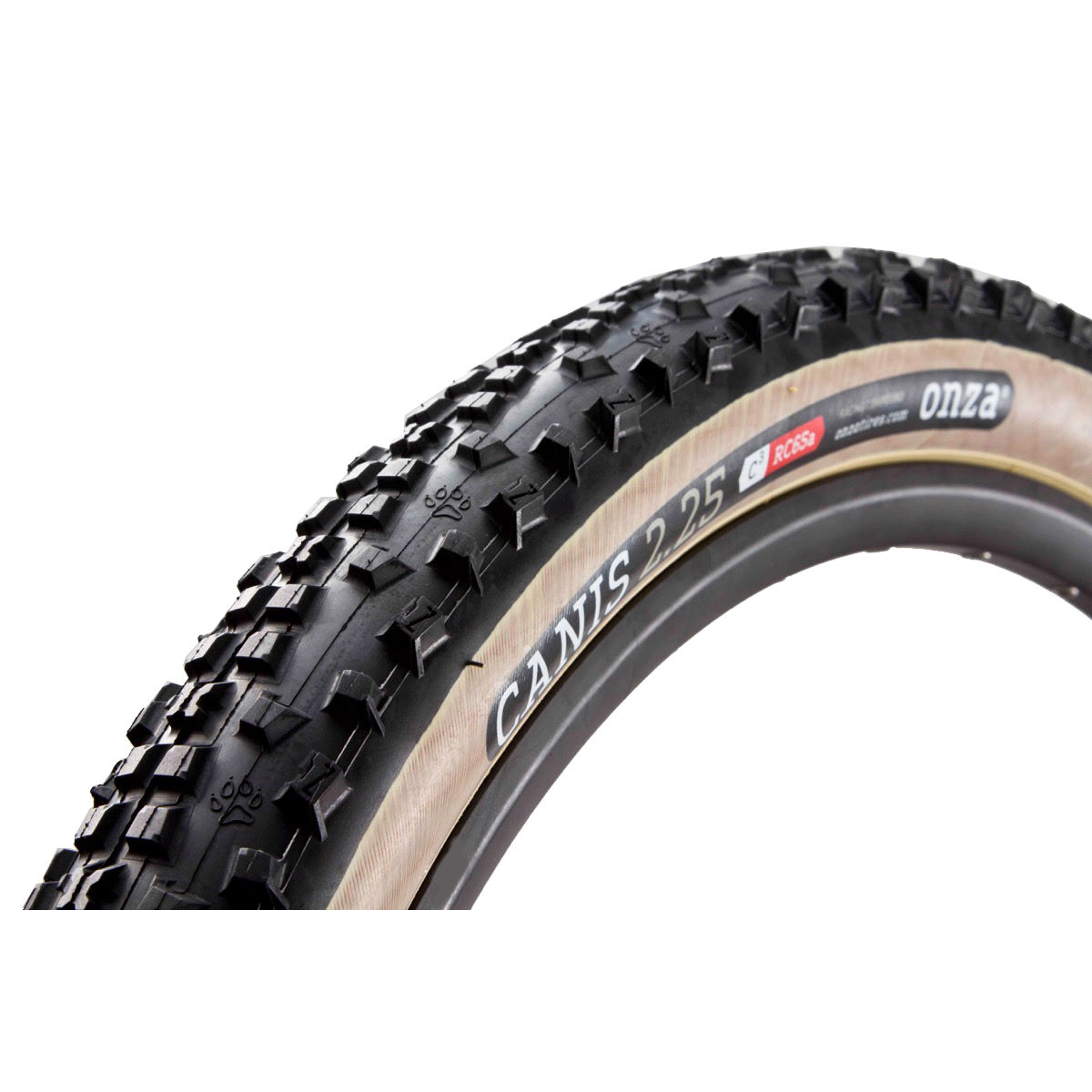 Onza Canis Skinwall Edition Folding MTB Tyre - 2.25 29'' Black / Tan Pneus descente et freeride